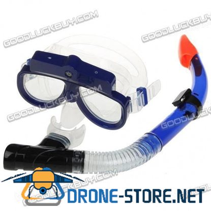 4GB USB Rechargeable 1.3M Pixels Underwater Diving Mask Digital Camera Camcorder - Blue