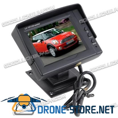 3.5 inch TFT LCD Digital Rearview Car Rear View Monitor w/ RC