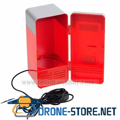 USB Mini Size Fridge Refrigerator Portable Cans Cooler Red