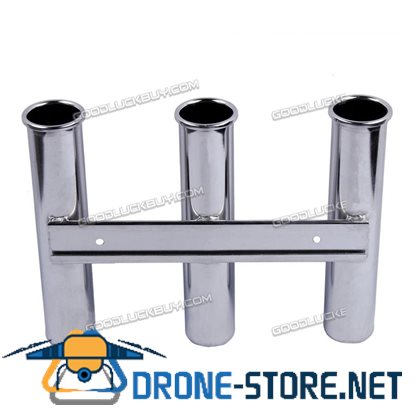 3 Tube Stainless Steel Fishing Rod Holder Stand Tool for Marine Boat Yacht