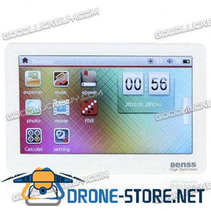 """Benss BX-88 4.3"""" Touch Screen Portable Media Player FM TF Card White 4GB Flash"""