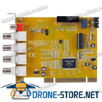 4-Channel MPEG4 DVR Video Capture PCI Card for Security Cameras (PAL/NTSC 60 FPS Max)