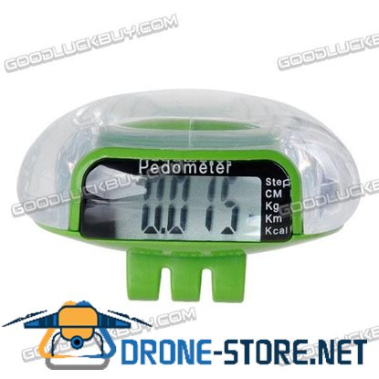 Mini LCD Clip Pedometer Step Calorie Distance Counter Green