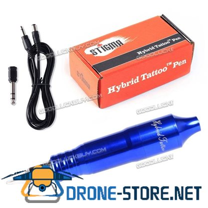 Solong Tattoo Hybrid Tattoo Pen Rotary Tattoo Machine Needle Cartridges EM105 Blue