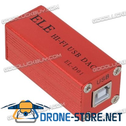 ELE EL-D01 MINI HIFI USB PCM2704 DAC BOARD CARD + ELNA Capacitor Red