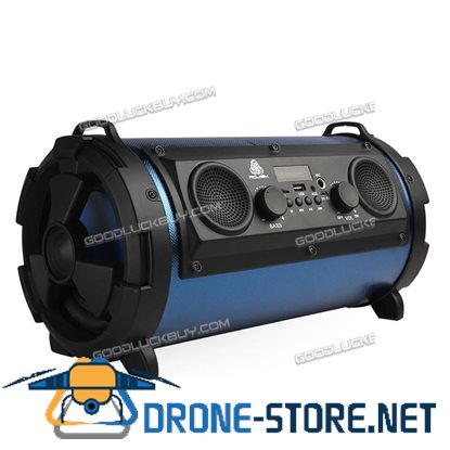 15W LCD Bluetooth Wireless Speaker Super Bass Subwoofer Stereo AUX USB TF FM Blue