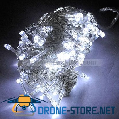 100 LED 9.2M Party String Christmas Rope Light White (8-Mode 220V AC)