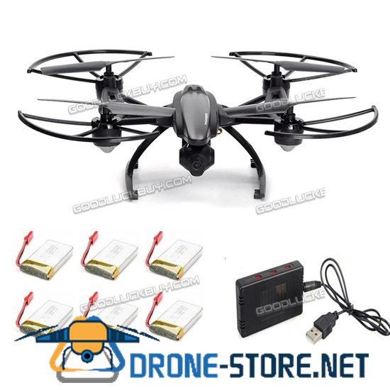 JXD 509G 2.4GHz RC Drone FPV Quadcopter w/ Camera+ Extra 6 Batteries+Charger