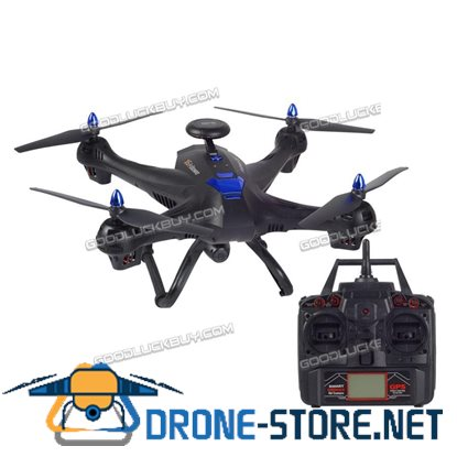 Global Drone X183 With 5GHz WiFi FPV 1080P Camera Dual GPS Brushed Quadcopter Black