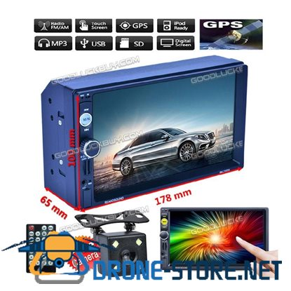 "7"" 2Din RK-A7157G MP5 Radio GPS Navigation Touch Bluetooth Car Player & Camera"