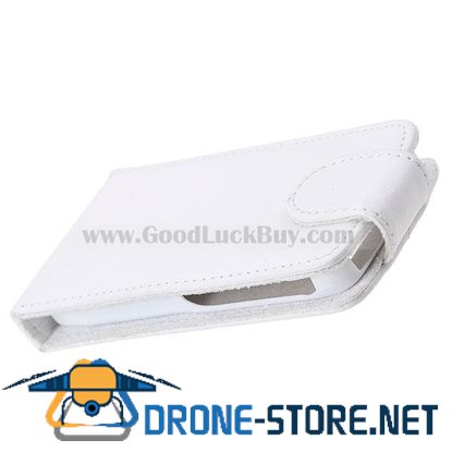 Protective Leather Case with Lining Stiff-Plastic Case for Nokia E71 (White)