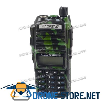 BAOFENG UV-82 Dual Band UHF/VHF 137-174/400-520MHz FM Radio + Earpiece Green