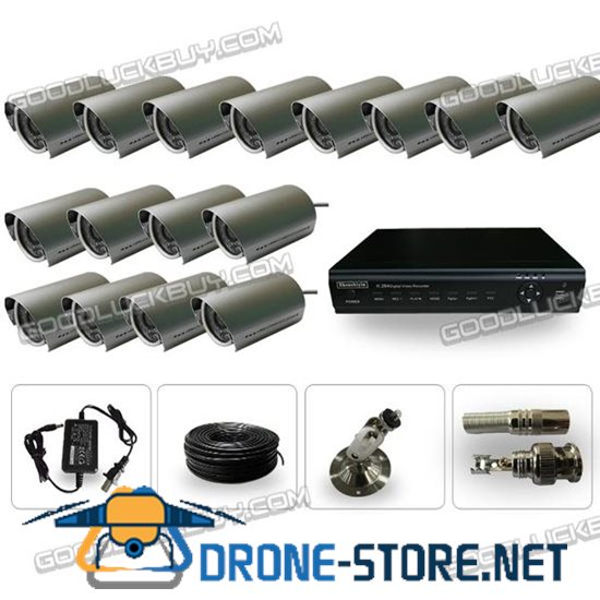 YAB-XWD16 16CH H.264DVR Waterproof Camera 420TVL 6mm Lens Infared Ray CCTV Security System