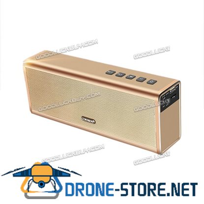 20W Super Bass Subwoofer Bluetooth 4.0 Wireless Stereo Speaker Mic Gold