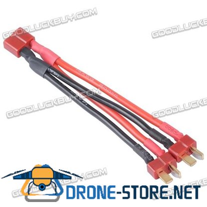 1 Female to 2 Male Dean Plug Adaption Cable Battery Parellel Connection Cable