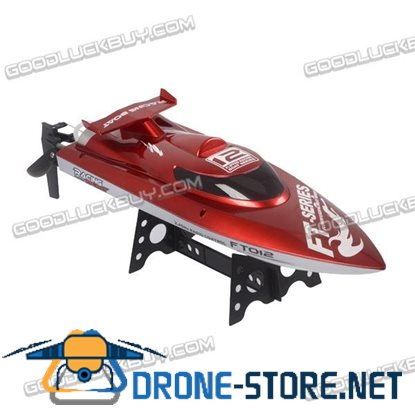 Feilun FT012 2.4G 4CH Remote Control RC Brushless Racing Boat High Speed 45km/h Red