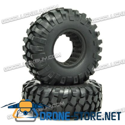 1:10 96mm Rubber Tire Wheel HC11002 2-Pack for RC Srambler Cars