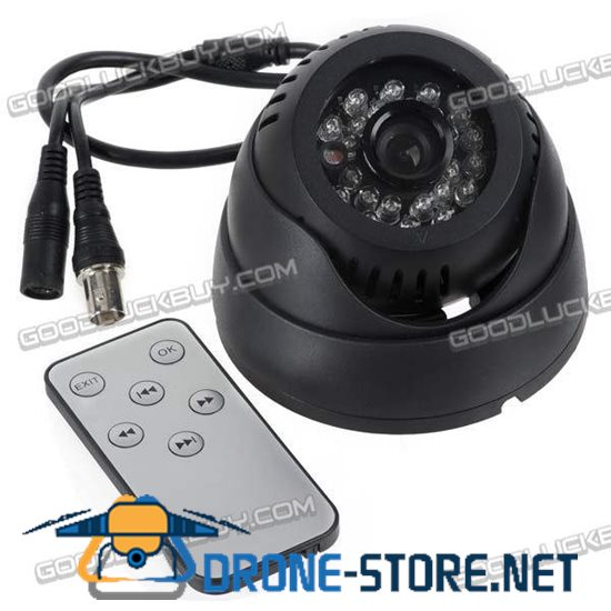 TF Card Digital Loop Recorder CCTV DVR Dome Camera Motion Detectio 3.6mm w TV-Out