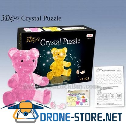 3D Crystal Furnish Teddy Bear Jigsaw Puzzle IQ Gadget