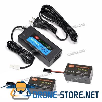 2X LiPo BATTERY Upgrade 2000mAh 11.1V 20C + Charger for PARROT AR.DRONE 2.0