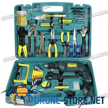 64 in 1 Multifunction Screw Driver Wrench Hammer Drill Tool Set