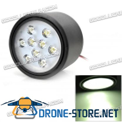 GZY-FY-K034 9W 9-LED White Light Ceiling Lamp w/ LED Driver - White (110~260V)