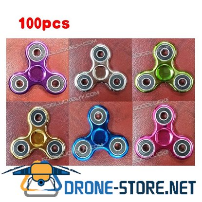 100X Lot Anti Stress EDC Fidget Toys Finger Hand Spinner Plastic Plating Autism