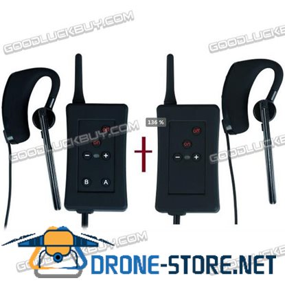 Vnetphone FBIM-C1 Bluetooth Intercom Full Duplex Interphone for 4 Users 1200M 2pcs