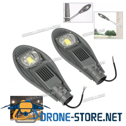 2 Pcs AC86-265V IP65 30W LED Street Road Outdoor Industrial Lamp Light Floodlight Warm White