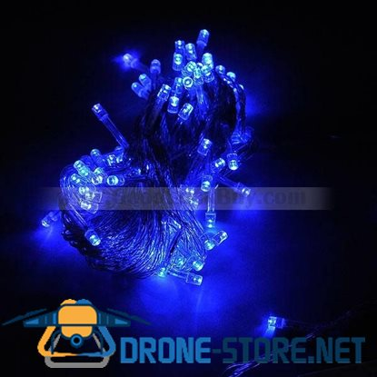 100 LED 10M Party String Christmas Rope Light Blue (8-Mode 220V AC)