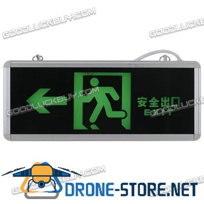 Green LED Emergency Exit Sign LED Compact Circuit Left Arrow