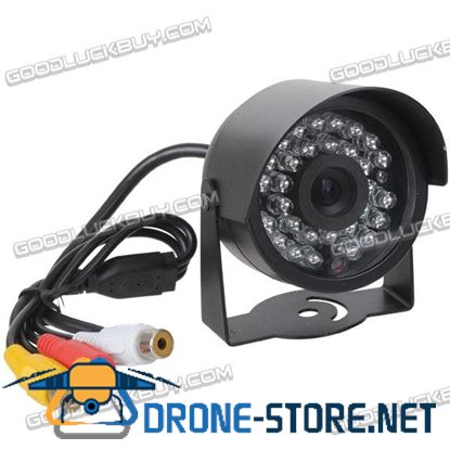 """1/3"""" Sensors Audio Video Outdoor Day Night Security Camera 30 IR LEDs for Home CCTV System"""