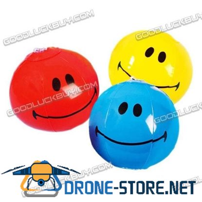 "5"" Inflatable Toy Beach Ball Inflate Pool Happy Smile Face (4-Pack)"
