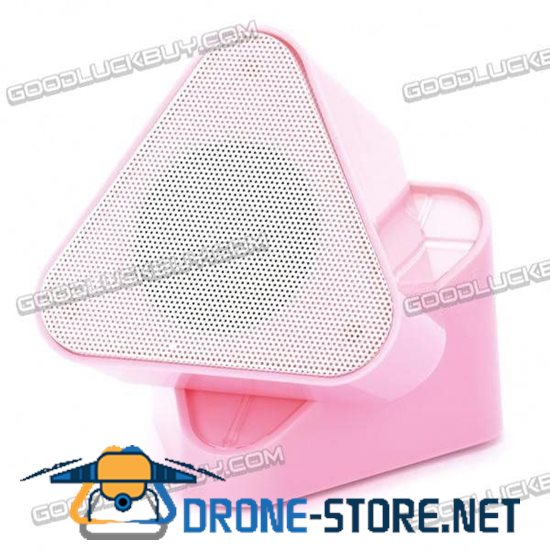 M6 Rechargeable MP3 Player Speaker 180 Rotatable with FM Radio USB Pink