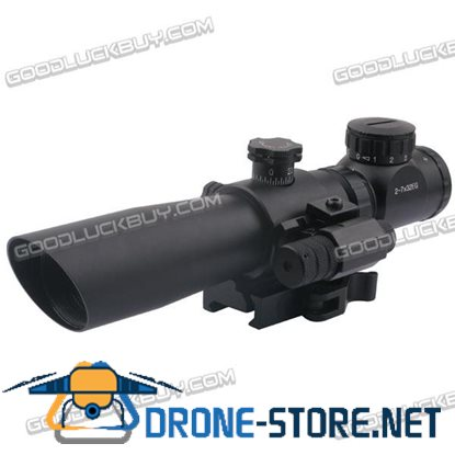 Mil-dot Ta 2-7x32 Rifle Scope 5mw Illuminated Red and Green Telescopic Scope Sights + Mount