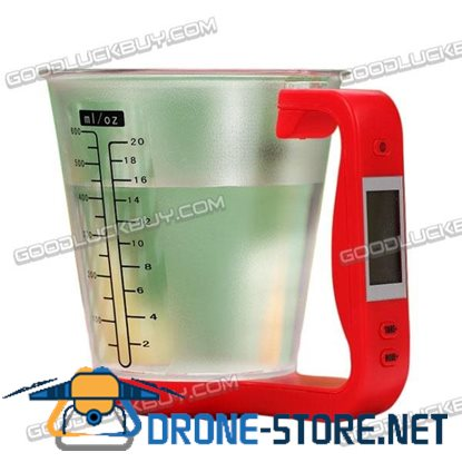 0-1kg Digital Detachable Measuring Cup Scale +/-1g Accuracy Black/Green/Red