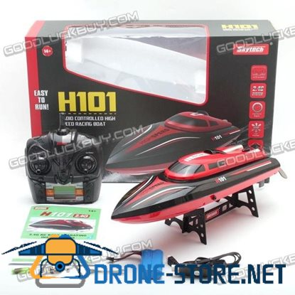 H101 RC Racing Boat High Speed 2.4 GHz 4 Channel Remote Control Water Toy Red