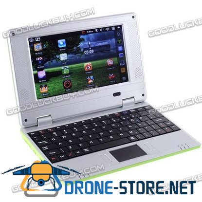 7'' Netbook Laptop 800MHz Google Android 2.2 WiFi 300MHz 2GB Flash Green