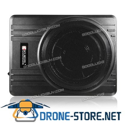 10'' KUERL 600W Powered Car Truck Subwoofer Amplifier Slim Super Bass Speaker