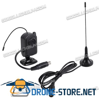 "2.4GHz Wireless Mini 1/3"" CMOS UHF TV Camera & Receiver Security System PAL"
