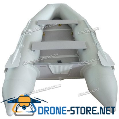 1.2mm PVC 10.5' Inflatable Boat Tender Raft Dinghy With Floor Gray