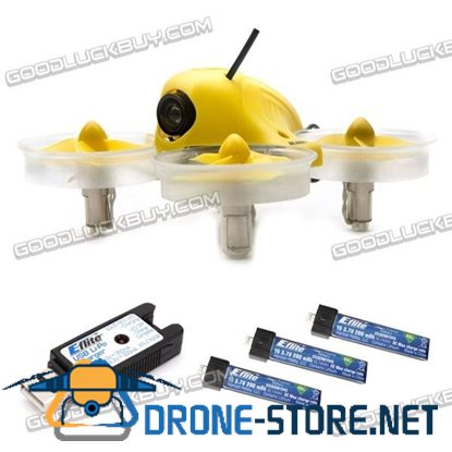 Horizon Blade Inductrix FPV 25mw Drone BNF Micro Quadcopter BLH8580 + 3 Battery