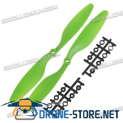"10x4.5"" 1045 1045R Counter Rotating Propeller Blade For Quadcopter MultiCoptor-Light Green"