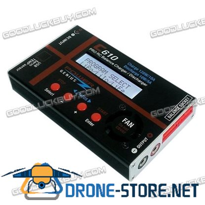 PG C610 Pro RC Balance Charger/Discharger 120W with DC Power & Multifunctional Connect Cable