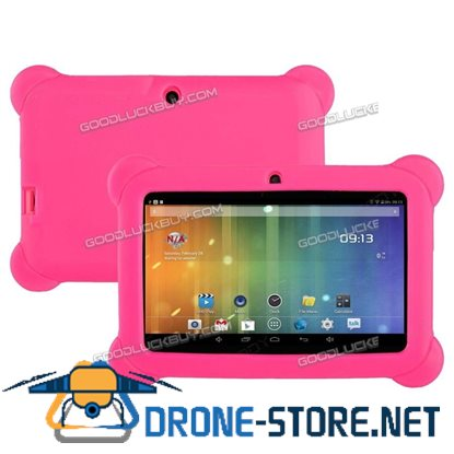 """7"""" Inch Kids Android 4.4 HD Tablet PC Quad Core Wifi for Children Xmas Gift Pink"""