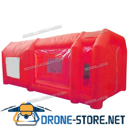 Red Inflatable Spray Booth Custom Car Paint Tent 12*5*4