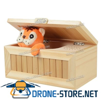 Wooden Useless Box Leave Me Alone Box Most Machine Don't Touch Tiger Toy Gift