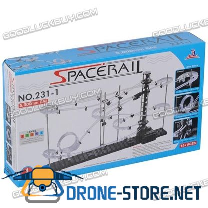 SpaceRail DIY Physics Space Ball Rollercoaster with Powered Elevator (5000mm Rail)