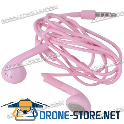 Pink Headset Earphone Headphone Earbuds 3.5mm for Tablet Phone MP3 MP4