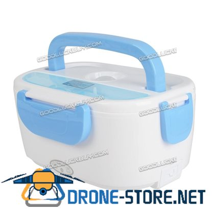 1.5L Portable Electric Heated Lunch Box Food Storage Warmer Container Blue